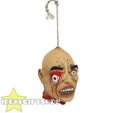 HALLOWEEN DECORATION HANGING SEVERED HEADS LIFE SIZE RUBBER LATEX PROP JOKE GORY