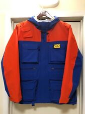 XXL POLO RALPH LAUREN ORANGE BLUE HI TECH ZIPPER POCKET WATERPROOF ANORAK JACKET