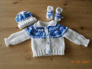 Babygarnitur Babyset Ausfahrgarnitur   Gr. 62/68handgestrickt  Handarbeit