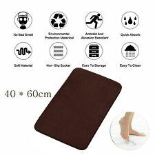 Coral Velvet Memory Foam Rug Bathroom Mat Soft Non-slip Floor Carpet 40x60cm PD