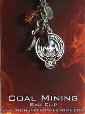 Hunger Games District 12 Coal Mining Bag Clip- Carded- FREE S&H (HGJW-59)