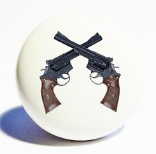 WESTERN SIX SHOOTER GUNS  HOME DECOR CERAMIC KNOB DRAWER CABINET PULL