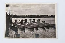 Ansichtskarte Kiel Marine Unterseeboote am Wohnschiff