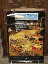 1981 USPS Stamp Poster BATTLE Virginia Capes Yorktown French NAVAL Victory paper