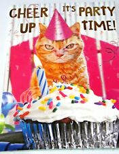 Happy Birthday Card. Party Cat Theme. Party Animal Range from Heartstring Cards.