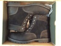 Timberland Larchmont Men's 6-inch Premium Waterproof Boots (Black) Size 13.