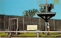 Mackinaw City Michigan~Historic Fort Michilimackinac~Boy in Stocks~1963 Postcard
