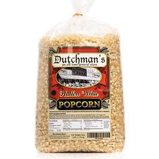 Dutchman's White Popcorn: Medium Virtually Hulless Popcorn Kernels for Popping -