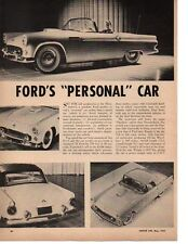 1955 FORD THUNDERBIRD ~ ORIGINAL NEW CAR PREVIEW ARTICLE / AD