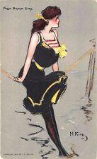 Palm Beach Girl Hamilton King Artist 1907 Postcard