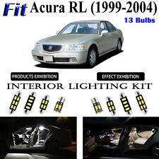 13pcs Super Bright White LED Interior Light Kit Package For Acura RL 1999-2004
