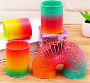 Slinky Cute Colorful Rainbow Plastic Magic Spring Children Toy Educational Gift