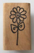 "Rubber Stamp Little Flower Daisy 1.75 x .75"" Imaginations X457"
