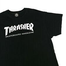 Trasher T-Shirt Skateboard magazine Noir Big Logo Taille Extra Large VLB