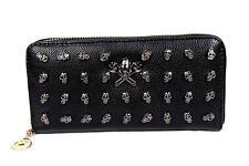 FreshGadgetz Youthful Skull Fashion Purse Wallet for Women Ladies - Black