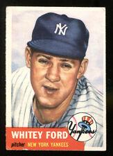 Whitey Ford 1953 Topps #207 New York Yankees Ex 5332