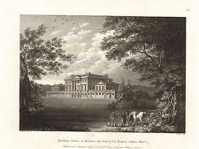 the seats of nobility & gentry 1787 -1815 engraving -  basildon house. berkshire