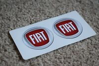 Fiat Car Old Style Logo Badge Car Motorbike Racing Race Decals Stickers 50mm
