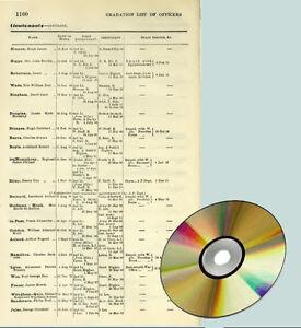 Army & Navy Lists 1916 - 1917 ( 38 volumes) data DVD WW1 World War 1 wwi