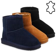 Warm Gefütterte Echtleder Kinder Boots Schlupfstiefel Profilsohle 78446 Schuhe