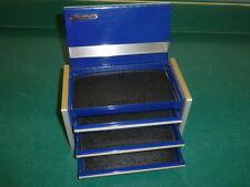 SNAP ON MINITURE TOOL BOX, BLUE MINI SIZE TOOL CHEST, JEWELRY BOX