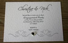 ***10x Personalised Engagement Party Invitations***  Envelopes Supplied