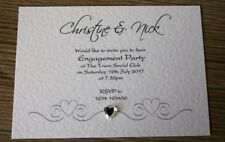 10x Personalised Engagement Party Invitations Envelopes Supplied