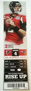 2013 New England Patriots Atlanta Falcons NFL Football Ticket Stub Tom Brady