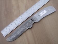 "7"" custom made hunting Damascus steel knife blank blade random 4358 s"