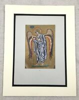 1929 Antique Angel Print St. Mark's Basilica Venice Italy Byzantine Mosaic
