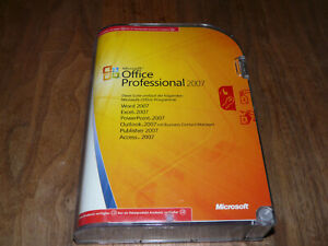 Microsoft Office 2007 Professional 2xCD deutsche Academic-Vollversion