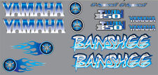 Banshee Decals BLUE Full Color Stickers Graphics 14pc ATV QUAD flames