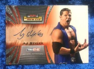 2010 TNA Tristar New Era Authentic Autograph Trading Card A14 AJ Styles