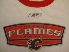 NHL Calgary Flames National Hockey League Fan Reebok Apparel White T Shirt XL