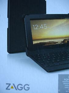 Zagg Auto-Fit Folio Keyboard Bluetooth Adjustable Samsung Android Google HP Ipad