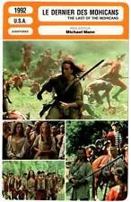 LE DERNIER DES MOHICANS - Day-Lewis(Fiche Cinéma)1995 - The Last of the Mohicans