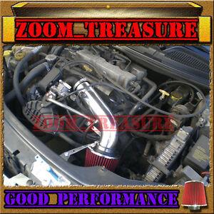 BLACK RED 2001-06 DODGE STRATUS SE/ES/SXT/CHRYSLER SEBRING 2.4L DOHC AIR INTAKE