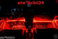2x LKW Fußraumbeleuchtung Rot Red LED Strip Streifen Leiste 30cm 18 SMD 24V IP65