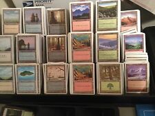 100 WHITE BORDER - Basic Land Lot - 20 each type - Magic the Gathering MTG FTG