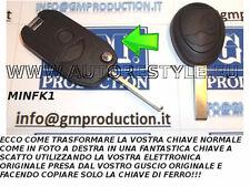 GUSCIO COVER TRASFORMATA RETRATTILE PER CHIAVE TELECOMANDO BMW MINI COOPER ONE