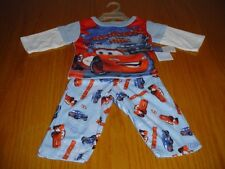 NEW WT DISNEY CARS McQUEEN DOC BLUE PJ 'S PAJAMAS INFANT BOYS 12 MO POLYESTER