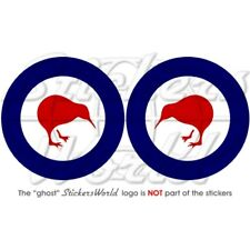 "NEW ZEALAND AirForce RNZAF Kiwi Roundel 3""/75mm Sticker"