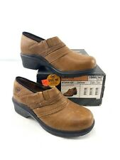 New In Box Ariat Women's Safety Clog Steel Toe Performance Brown Leather Sz 6