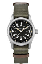 New Hamilton Khaki Field Mechanical Black Dial NATO Band Men's Watch H69439931
