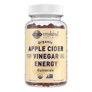 Garden of Life myKind Organics Apple Cider Vinegar Energy & B12+ , 63 Gummies