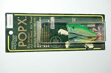 rare megabass pop x popx made japan topwater popper 1/4oz  yuki ito green back