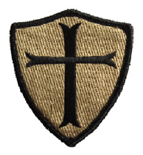 VELCRO® BRAND Hook Fastener Compatible Patches Crusader Sheild Templar COYOTE 3""