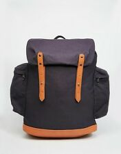 ASOS Commander Backpack In Navy Canvas Travel Bag - NEW