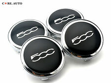 61mm/ 55mm × 4 For Fiat 500c Wheel Center Caps Emblem Aftermarket Parts