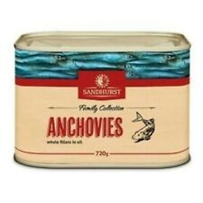 ANCHOVIES WHOLE FILLETS IN OIL 720G SANDHURST - QUICK POST